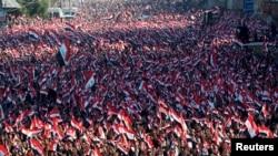 تظاهرات طرفداران مقتدی الصدر در بغداد در ماه فوریه