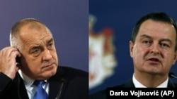 Predsednik Vlade Bugarske Bojko Borisov i ministar spoljnih poslova Srbije Ivica Dačić
