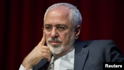 Iranian Foreign Minister Mohammad Javad Zarif speaks at the New York University Center on International Cooperation in New York on April 29.