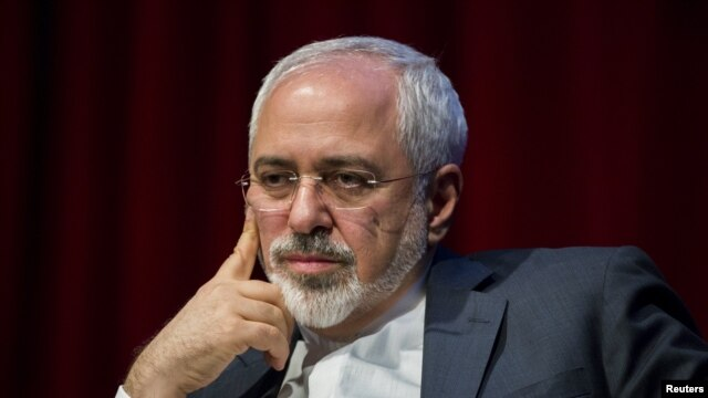 Iranian Foreign Minister Mohammad Javad Zarif appears in a think-tank discussion at New York University on April 29.