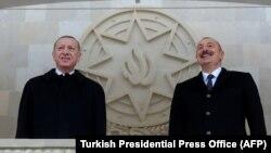 Реджеп Тайип Эрдоган и Ильхам Алиев (10 декабря 2020 года)
