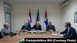 Sastanak lidera BiH, Hrvatske i Srbije u Mostaru, 6. mart 2018