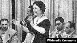 حفلة لعفيفة اسكندر في خمسينات القرن الماضي