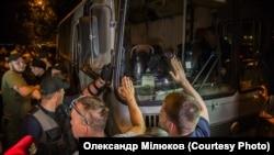 Во время акции протеста в Одессе 8 июня 2017 года