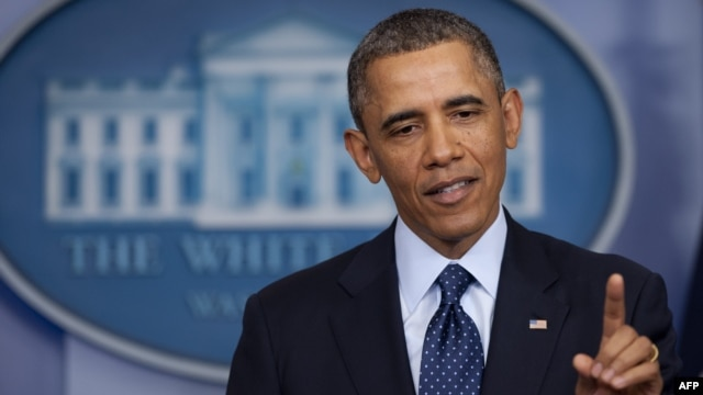 U.S. -- US President Barack Obama speaks to the media about sequestration in the Brady Press Briefing Room at the White House in Washington, DC, 01Mar2013