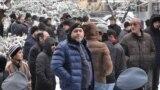 Акция протеста с требованием повторного ареста экс-депутата, отставного генерала Манвела Григоряна, Ереван, 14 января 2019 г.