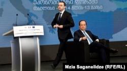 საფრანგეთის პრეზიდენტი ფრანსუა ოლანდი და საქართველოს პრემიერ-მინისტრი ირაკლი ღარიბაშვილი