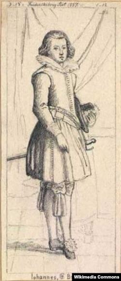 Принц Ганс. Рисунок неизвестного художника. 1857