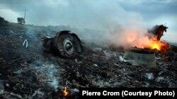 Место падения рейса MH17
