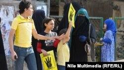 محتجون موالون للرئيس المعزول محمد مرسي يتظاهرون في الجيزة