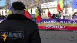 Protest la ambasada rusă din Chișinău