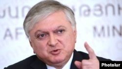 Armenia - Foreign Minister Edward Nalbandian at a news conference in Yerevan, 11Sep2012.