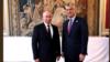 Pamje gjatë takimit të presidentit të Kosovës, Hashim Thaçi me homologun e tij rus, Vladimir Putin (majtas).