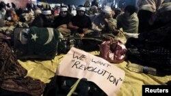 Учасники антиурядових протестів на мітингу в Ісламабаді, 14 січня 2013 року