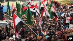 از تجمعات اعتراضی در بغداد
