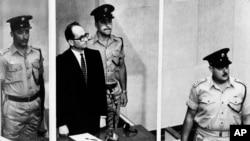 آدولف آیشمن در دادگاه اورشلیم، ۱۹۶۱