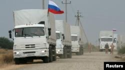 Российский конвой грузовиков с гуманитарной помощью. Иллюстративное фото.