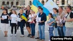 Украинцы Португалии на площади в Лиссабоне