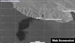 Разлив нефти под Новороссийском