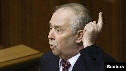 Kryetari i ri i Parlamentit të Ukrainës, Volodymyr Rybak.