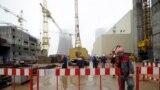 Архіўнае фота. Будоўля Беларускай АЭС у Астраўцы, 12 кастрычніка 2017 году
