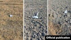 Армения - Обломки сбитого ВС Армении азербайджанского беспилотника в Гегаркуникской области на границе с Азербайджаном, 30 июля 2021 г. (фотография - Минобороны Армении)