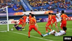 Football match between China and Iran. January 15, 2020