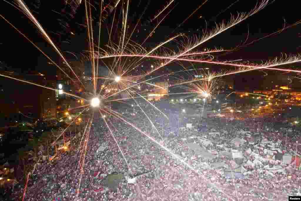 تجمع مخالفان محمد مرسی در میدان التحریر قاهره- ۱۲ تیرماه ۱۳۹۲