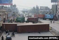 Деякі вулиці Ісламабада перекрили напередодні маршу, 13 січня 2013 року