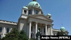 Pamje e Kuvendit të Serbisë në Beograd