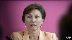 Марина Литвиненко, вдова Александра, на пресс-конференции в Лондоне. 22 июля 2014 года