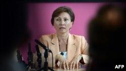 Marina Litvinenko gjatë një konferennce për shtyp në Londër këtë muaj