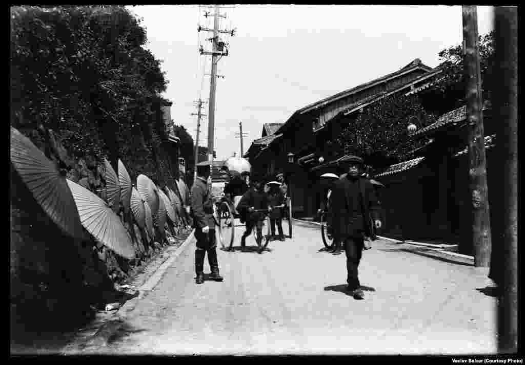 A street scene in Nagasaki, Japan