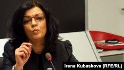 Arbana Vidishiqi speaks to Lady Liberty panel on International Women's Day 2016.