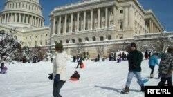 Обильные снегопады - редкость для Вашингтона.
