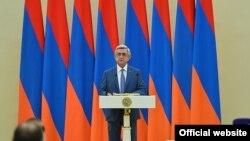 Армения президенти Серж Саргсян.