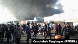 «Барахолкадағы» өрт. Алматы, 17 қараша 2013 жыл.
