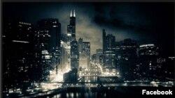 Ночной Чикаго, 1964 год. Фото взято из страницы Али Хамраева в Фейсбуке.