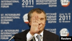 Deputy Prime Minister Igor Sechin attends the St. Petersburg International Economic Forum on June 17, 2011.