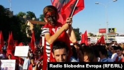 Protesta në Shkup