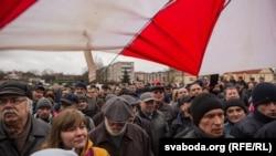 Архіўнае фота. «Марш недармаедаў» у Слоніме 19 сакавіка