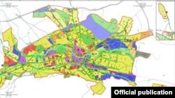 Нацрт-генерален урбанистички план на Скопје.