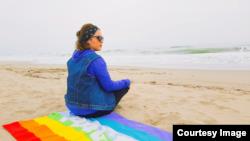 ქეთი იტალიის ქალაქ სალერნოს სანაპიროზე, 2019 წელი.