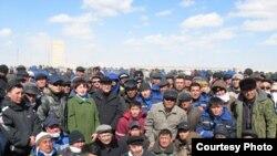 یک اعتراض کارگری در قزاقستان(مارس ۲۰۰۹)