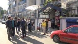 Protest protiv iseljenja izbeglica u Beogradu