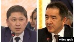 Премьер-министры Кыргызстана и Казахстана Сапар Исаков и Бакытжан Сагинтаев.