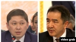 На комбинированном фото — премьер-министр Казахстана Бакытжан Сагинтаев (справа) и премьер-министр Кыргызстана Сапар Исаков.