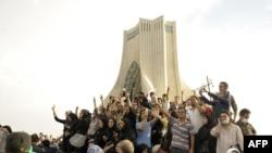 عکسی از تظاهرات روز دوشنبه در تهران