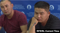 Qaster Musakhanuly (left) and Murager Alimuly have said they were subject to persecution in Xinjiang.