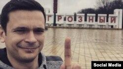 Российский оппозиционер Илья Яшин в Грозном.